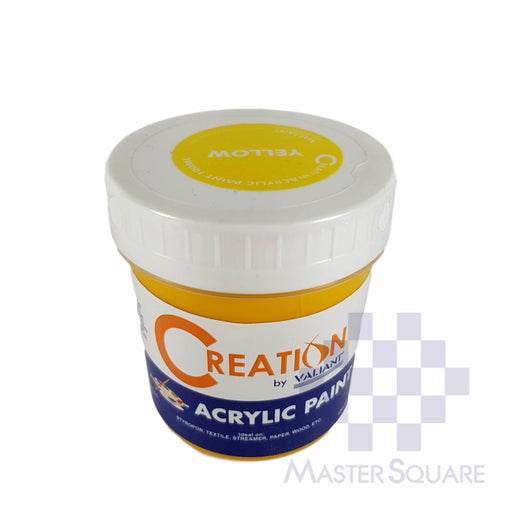 Creation Acrylic Paint 100ml Yellow-Master Square