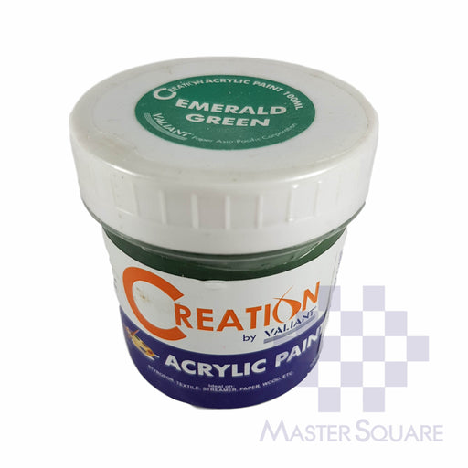 Creation Acrylic Paint 100ml Emerald Green-Master Square