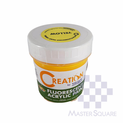 Creation Acrylic Paint 100ml Fluorescent Yellow-Master Square