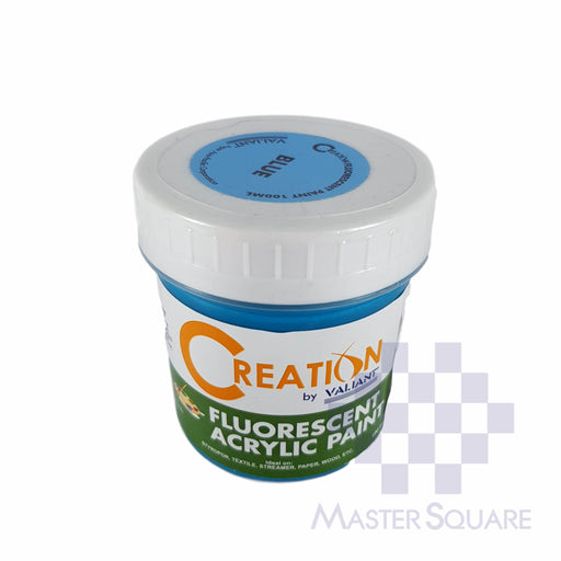 Creation Acrylic Paint 100ml Fluorescent Blue-Master Square