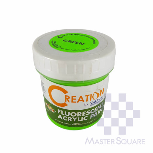 Creation Acrylic Paint 100ml Fluorescent Green-Master Square