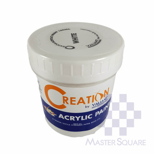 Creation Acrylic Paint 100ml White-Master Square