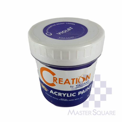 Creation Acrylic Paint 100ml Violet-Master Square