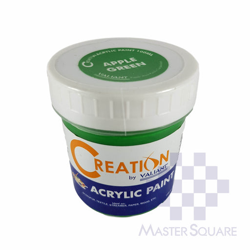 Creation Acrylic Paint 100ml Apple Green-Master Square