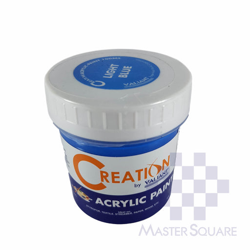 Creation Acrylic Paint 100ml Light Blue-Master Square