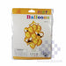 Foil Balloon Set Of 14 Heart And Star Gold-Master Square