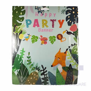 Party Flag Banner Tropical Animals Pennant-Master Square