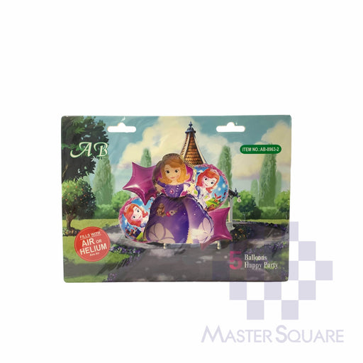 Sophia Foil Balloon Set Of 5 Ab8963-2-Master Square