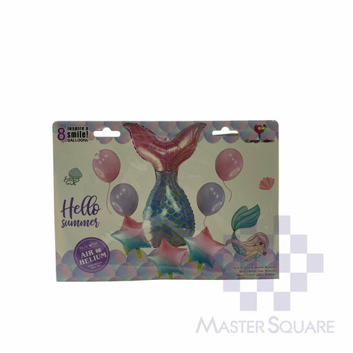 Mermaid Tail Foil Balloon Set Of 5 Cyh1339-073-Master Square