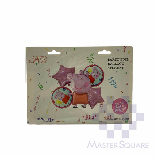 Peppa Pig Foil Balloon Set Of 5 Ab-8963-17-Master Square