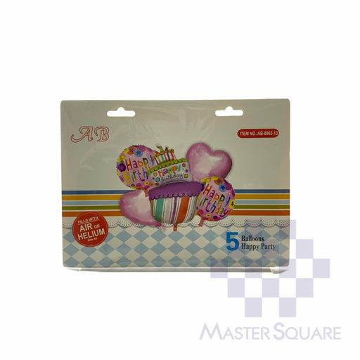 Hb Cake Foil Balloon Set Of 5 Ab-8963-13-Master Square