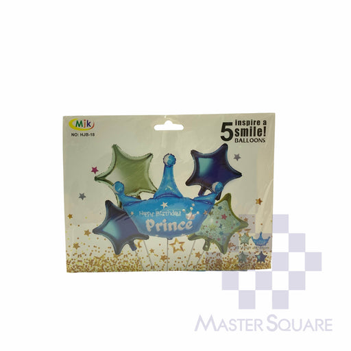 Hb Prince Foil Balloon Set Of 5 Hjb18-Master Square
