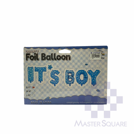 It's Boy Foil Balloon Set Of 5 Blue-Master Square
