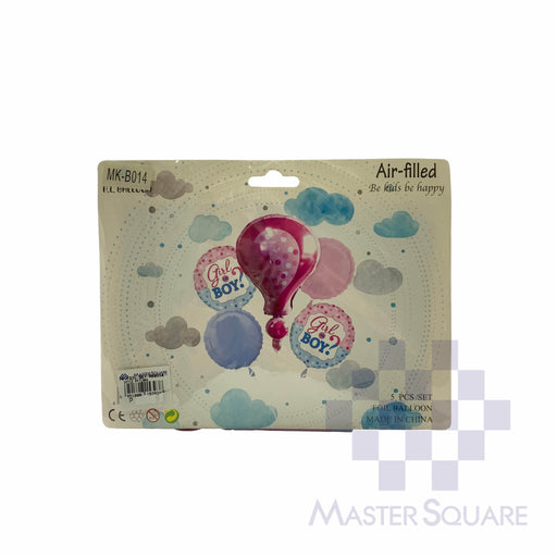 Girl Or Boy? Foil Balloon Set Of 5 Pink Mk-b014-Master Square