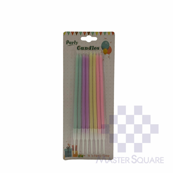"Candle Pastel Colors Set Of 8 6"" W08-Master Square"