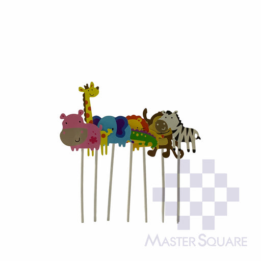 Cake Topper Kit Animals Set Of 7-Master Square