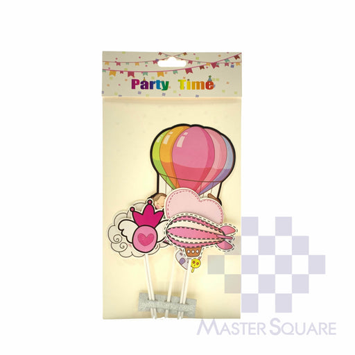 Cake Topper Kit Play In The Air Pink Set Of 5-Master Square