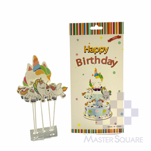 Cake Topper Kit Unicorn Set Of 5-Master Square