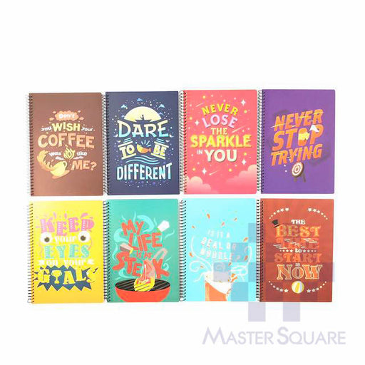 Spiral Notebook 685 80 Leaves Make A Statement 8 Designs Set Of 10-Master Square