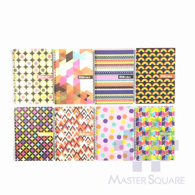 Spiral Notebook 685 80 Leaves Mix Prints 8 Designs Set Of 10-Master Square
