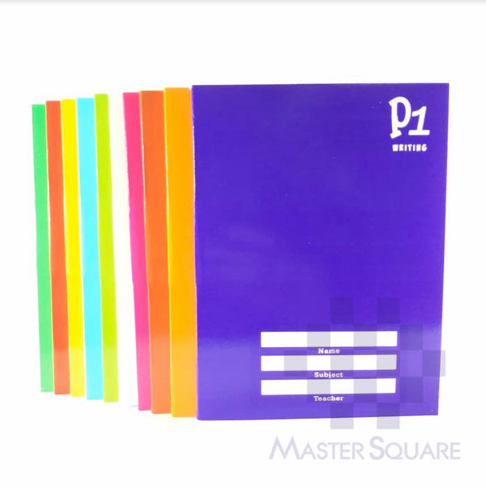 Writing Notebook 80 Leaves Color Coding Set Of 10-Master Square