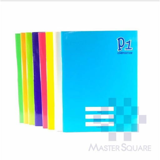 Composition Notebook 80 Leaves Color Coding Set Of 10-Master Square