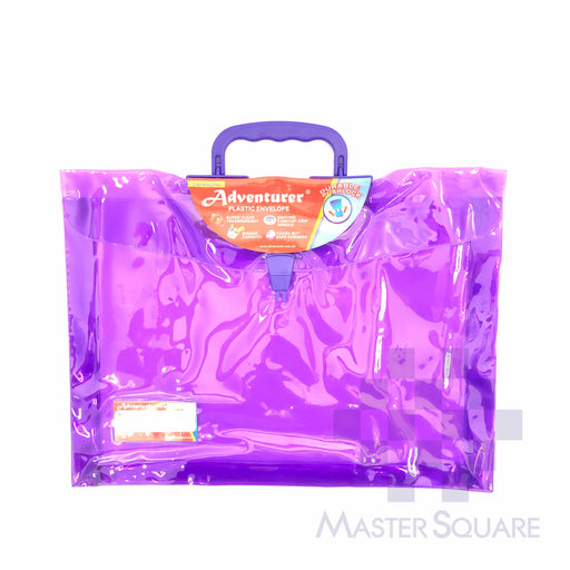 Adventurer Expanding Plastic Envelope Transparent With Pushlock 15 X 11.5 X 0.75 In E-213-Master Square