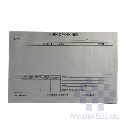 Check Voucher Approx. 210x138mm-Master Square