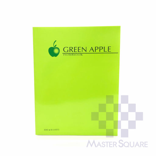 Green Apple Padded Notebook 216 X 280 Mm 80 Sheets G-8080-Master Square