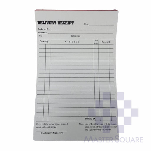 Delivery Receipt Triplicate Approx. 133x219mm-Master Square