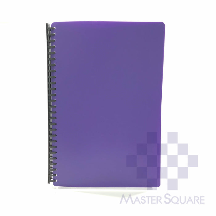 Clear Book Spiral 20 Pockets Refillable Legal Size T-2720-Master Square