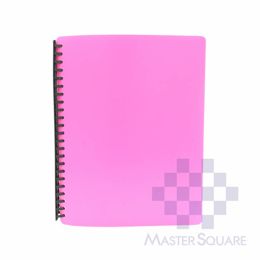 Clear Book Spiral 20 Pockets Refillable Letter A4 Size T-2720-Master Square