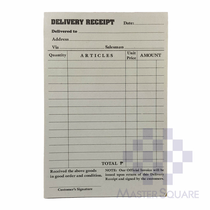 Delivery Receipt Triplicate Approx. 102x152mm-Master Square