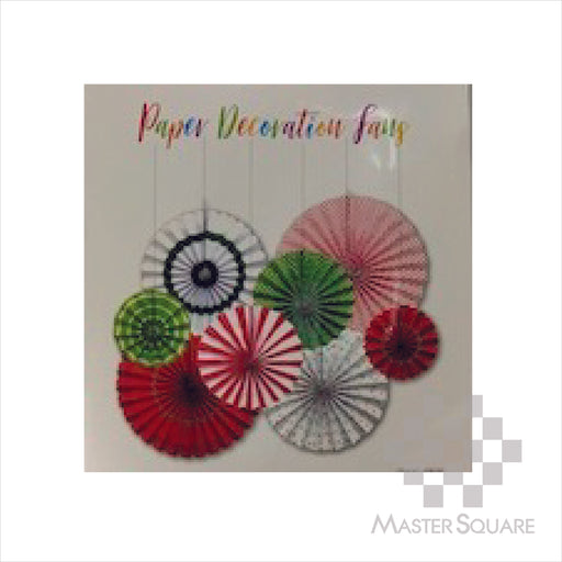 Paper Fan 8in1 P141 Red And Green-Master Square