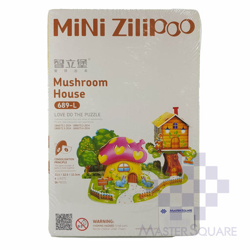 Press-out Puzzle Mushroom House-Master Square