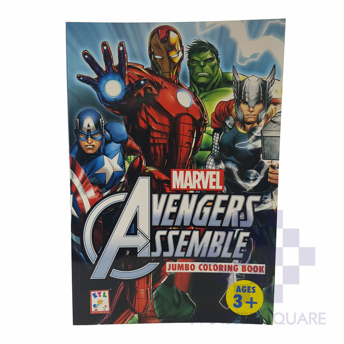 Jumbo Coloring Book Marvel Avengers Arm0058-Master Square