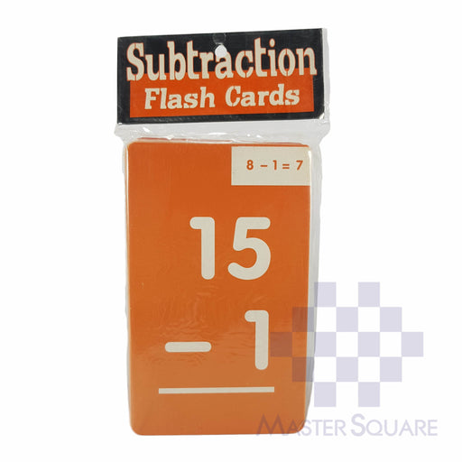 Flash Cards Subtraction Colored-Master Square