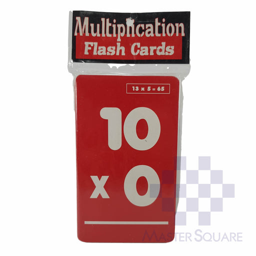Flash Cards Multiplication Colored-Master Square