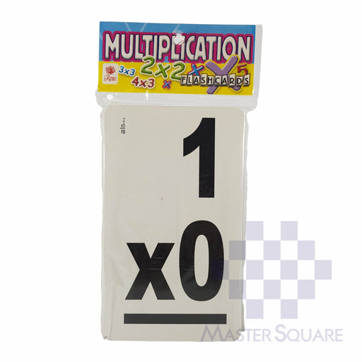 Flash Cards Multiplication Black-Master Square