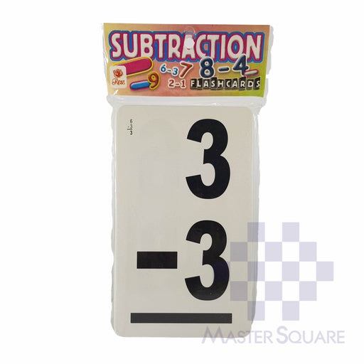 Flash Cards Subtraction Black-Master Square