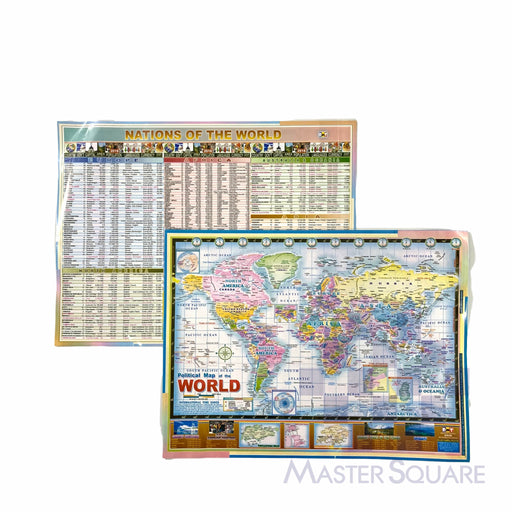 Political World Map Of The World 9 X 12 In-Master Square