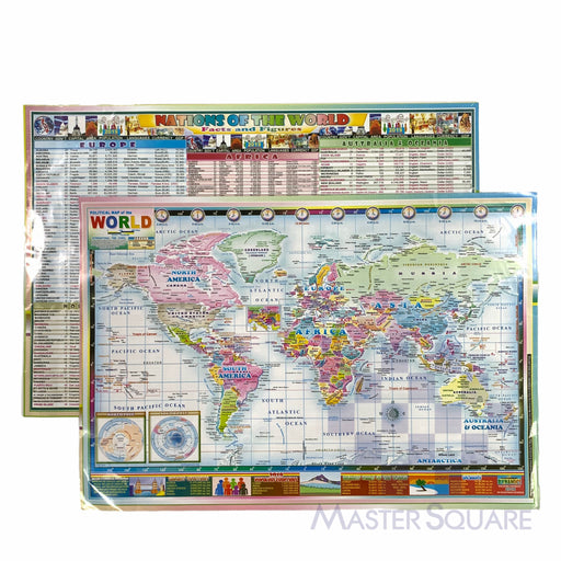 Political Map Of The World 12 X 17.75 In-Master Square