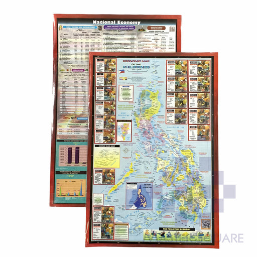 Economic Map Of The Philippines 12 X 17.75 In Design 2-Master Square