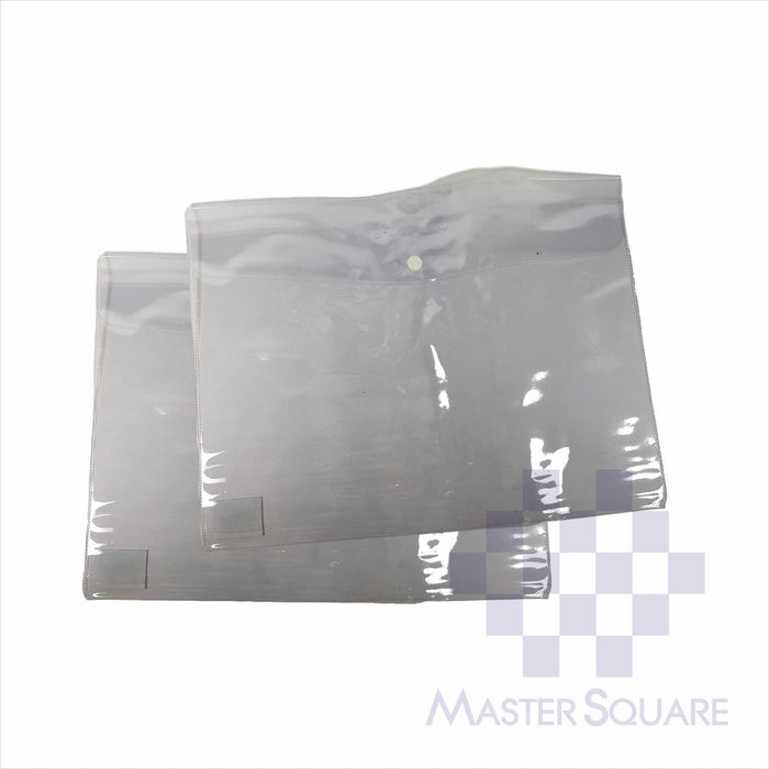 G6 Envelope Plastic Clear Short 2's-Master Square