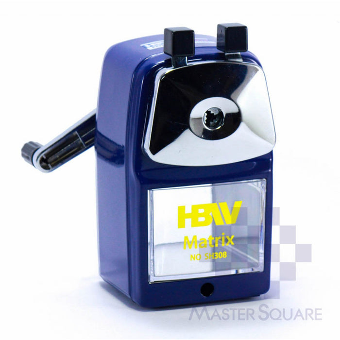 Hbw Matrix Pencil Sharpener Sh308 In Blue-Master Square