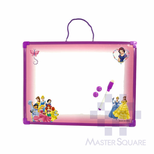 White Board 30 X 40 Cm Disney Princesses In Purple With Whiteboard Pen And Eraser With Magnets-Master Square