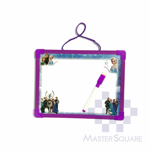White Board 18 X 23 Cm Frozen In Purple With Whiteboard Pen And Eraser With Magnets-Master Square