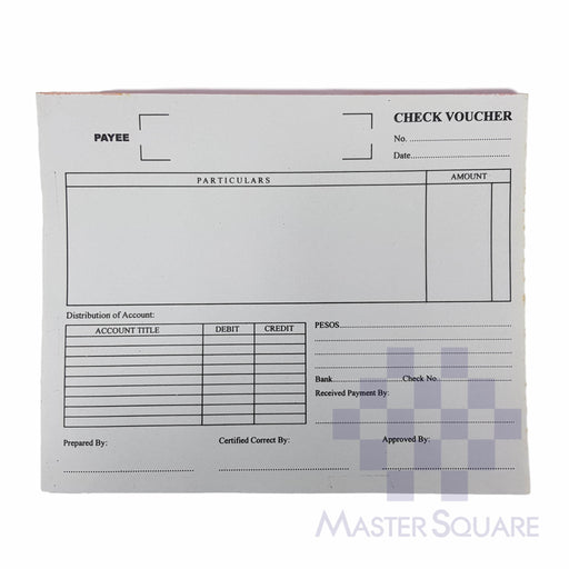 Check Voucher Approx. 218x171mm-Master Square