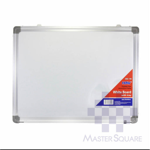 Hbw White Board 30 X 40 Cm 082-148 Aluminum With Tray-Master Square