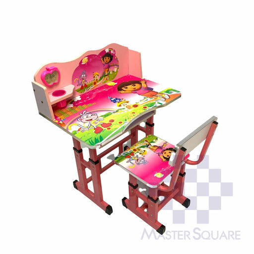 Kids Desk And Chair Set 27 X 18 In Dora In Pink-Master Square